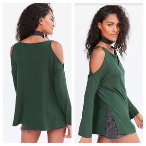 Silence + Noise Urban Outfitters Cold Shoulder Top
